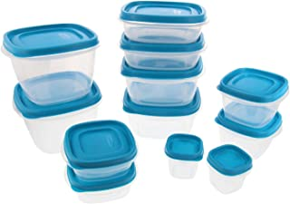 Rubbermaid Food Storage Containers w/Easy Find Lids System - Stain Resistant BPA-Free Tritan Plastic - Great for Storing Leftovers & Staples - 24 Piece Set - Blue