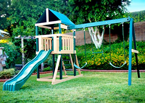 Congo Safari Playsystem - Green and Sand Low Maintenance Play Set