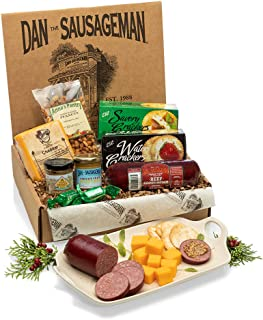 Dan the Sausageman's Yukon Gourmet Gift Basket -Featuring Dan's Original Sausage, 100% Wisconsin Cheese, and Dan's Sweet H...