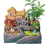 Micro Landscape Blumentopf,Künstliche Sukkulente Pflanzen Topf Kunstharz Sukkulenten kleine Bonsai...