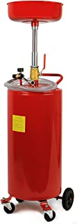 XtremepowerUS Industrial 20 Gallon Portable Waste Oil Drain Tank Air Operated Heavy Duty Height Adjustable, Red
