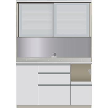 パモウナ 食器棚VI パールホワイト 幅140×高さ198×奥行50 日本製 VIR-1400R