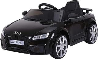 HOMCOM Audi TT Eléctrico Infantil Coche Juguete Niño 3 Años+ con Mando a Distancia con Música y Luces Modos de Aprendizaje Batería 6V Doble Apertura de Puerta Carga 30kg 103x63x44cm Color Negro