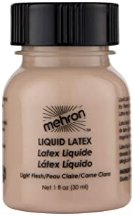 Mehron Makeup Liquid Latex (1 oz) (Light Flesh)