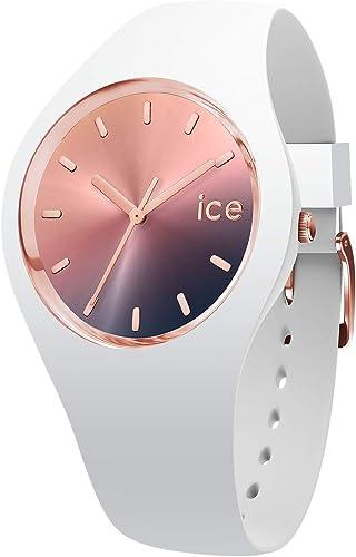 Ice-Watch - Ice Sunset Midnight - Montre Blanche pour Femme avec Bracelet en Silicone - 015749 (Medium)
