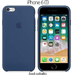 Funda Silicona para iPhone 6 y 6s Silicone Case, Textura Suave, Forro Interno Microfibra (Azul-Cobalto)