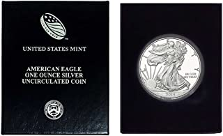 2014 - American Silver Eagle in Plastic Air Tite and Blue Gift Box with our Certificate of Authenticity Dollar Uncirculated Us Mint