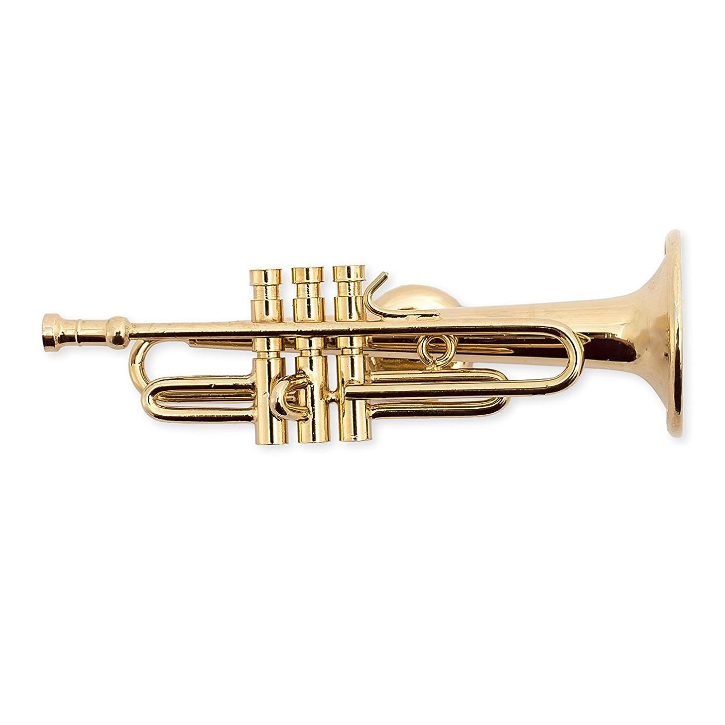 Gold Trumpet Miniature Replica Magnet, Size 2.5 inch