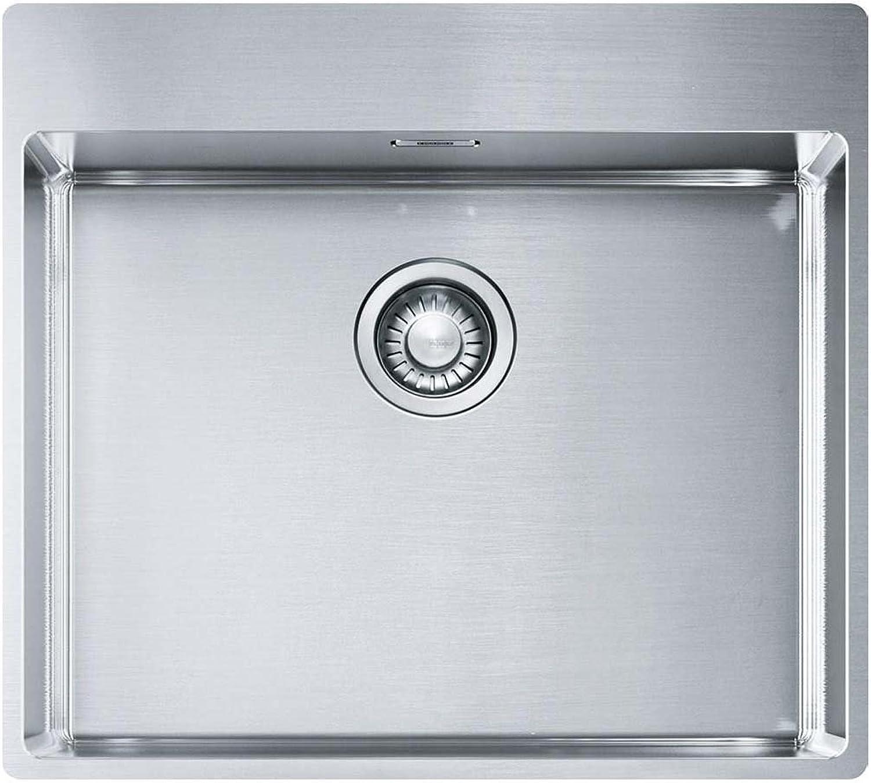 Franke Box Küchenspüle BXX 210-54 TL Edelstahl Seidenglanz überlaufloch versteckt