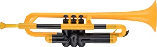pBone Jiggs pTrumpet Plastic Trumpet w/Gig Bag and 3C and 5C Mouthpieces, Yellow, (PTRUMPET1Y)