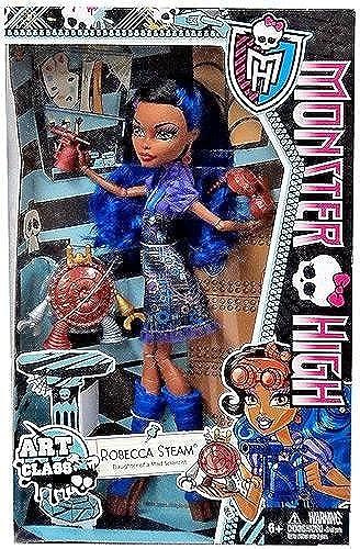 Monster High Art Class Dolls-Robecca Steam by Mattel (English Manual)