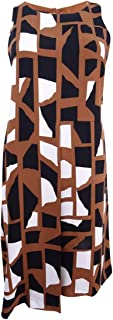 Womens Printed Pleated Casual Dress