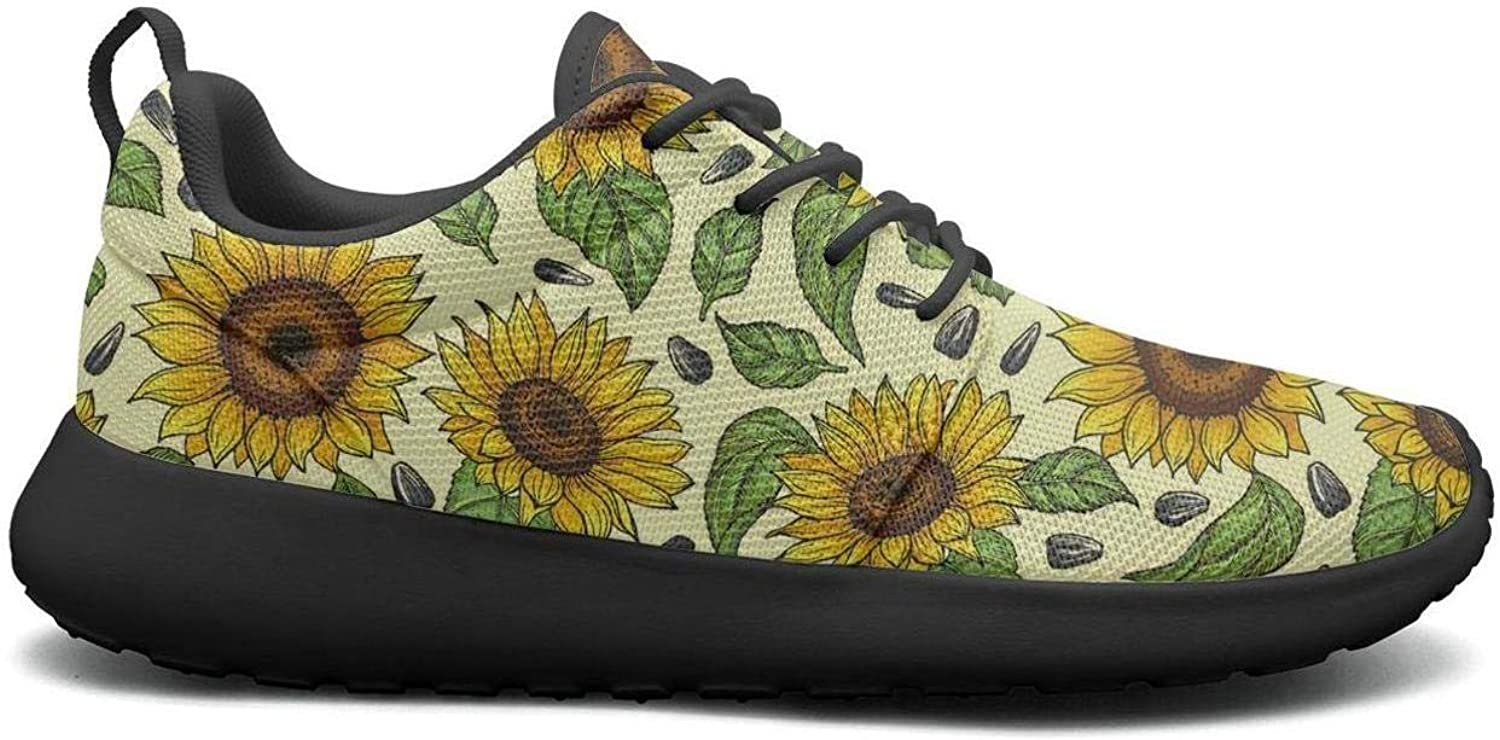 CHALi99 Comfort Women Lightweight shoes Yellow Kansas Mexican Sunflower Floral Loafers Trail Running Quick Dry