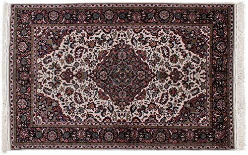 Lifetex.eu Hochwertiger Orientteppich Täbriz-Muster (ca. 140x220 cm) Klassisch handgeknüpft Schurwolle mit Seide (<5%) Mehrfarbig Teppich