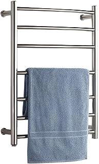 Montado en la pared Toallero eléctrico calentado, Acero inoxidable rejilla de secado de toallas Secado a temperatura constante, Cuarto de baño toallero radiador resistente al agua