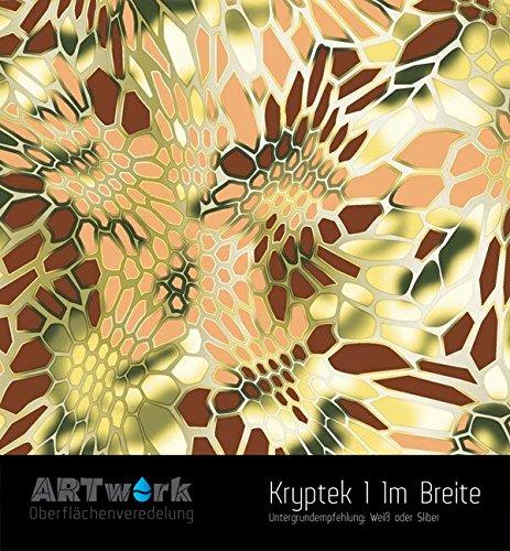 Wassertransferdruck WTD Design Folie ARTwork Kryptek 1 1m Breite