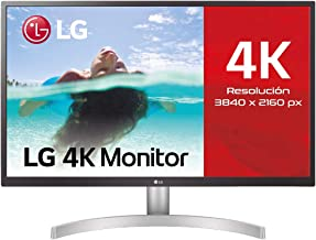 "LG 27UL550-W - Monitor 4K UHD de 68,6 cm (27"") con Panel IPS (3840 x 2160 píxeles, 16:9, 300 cd/m², sRGB >98%, 1000:1, 5 m..."