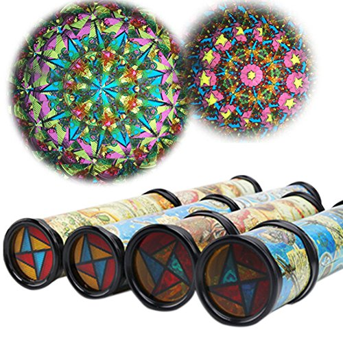 ILOVEDIY Kinder Klassische Kunststoff Kaleidoskop Spielzeug Bildung Geschenke (Groß)