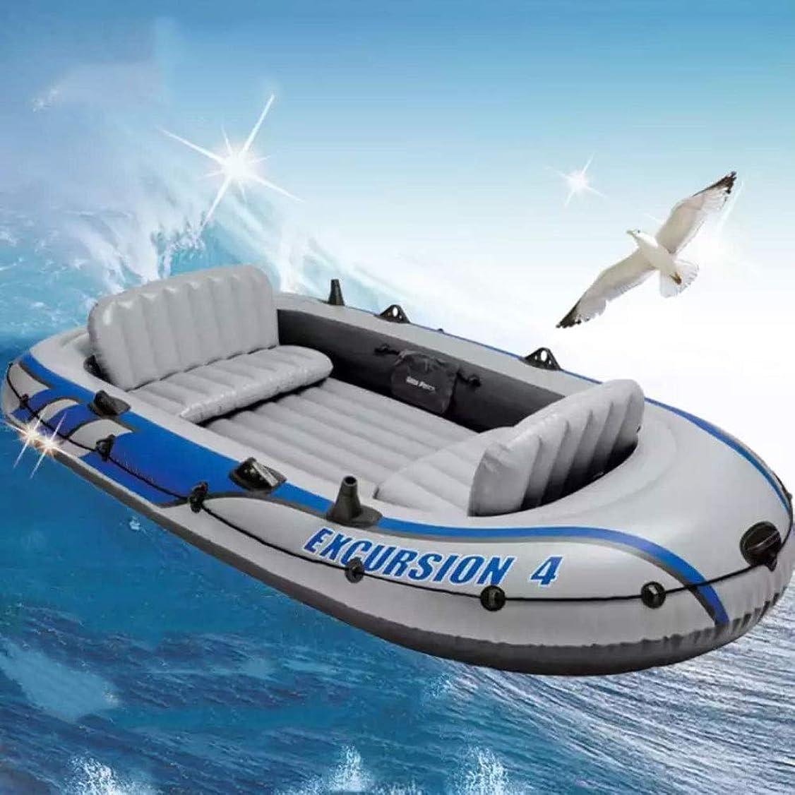 自我王室発音するBOOA 3人用 折りたたみ式 インフレータブル ボート プロフェッショナル 釣りボート 空気注入式 ボート用 パドルとポンプ付き 耐荷重300kg 空気注入式ボートの寸法 26215742cm