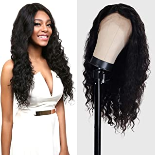 UpScale 100% Virgin Glueless Remi Human Hair Hand Made Unprocessed Brazilian Human Hair Full Lace Wig Deep Wave 150% Density NATURAL Color 24