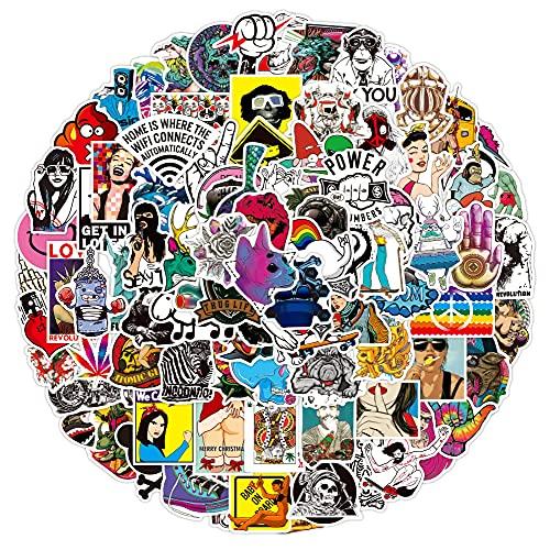 Dheckbluesky 100 pegatinas de graffiti, resistentes al agua, para monopatín, portátil, coche, casco, moto, bicicleta, M?Bel G?stebuch...
