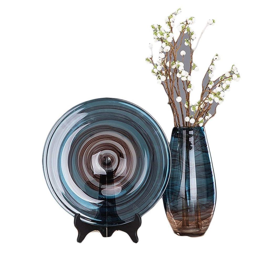 レールかき混ぜるズボンGCX- インク透明ガラス花瓶家の装飾リビングルームの装飾 ファッション (Color : Two-piece set)