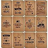 24 Paquetes Cuadernos de Papel Kraft Blocs de Notas Inspiradores...