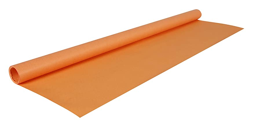 Kraft Wrapping Paper Orange 9Ft by 27.5 in