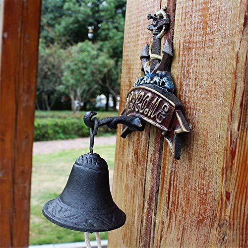 LNDDP Antike Türklingel Vogel Gusseisen Glocke Home Decoration Klassisches Retro Wandbild Türklingel Wandbild Innenhof