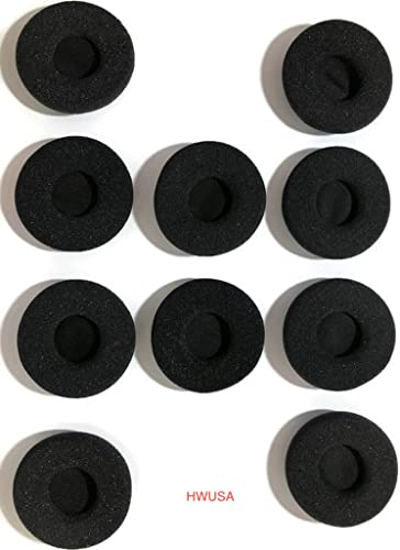 new arrival Replacement online Foam Headset Ear Cushions Corded Headset, online sale BlueParrott B250-XT Series,Plantronics, Jabra, VXI, Smith Corona,SupraPlus, 14101-38 10 Pack outlet sale
