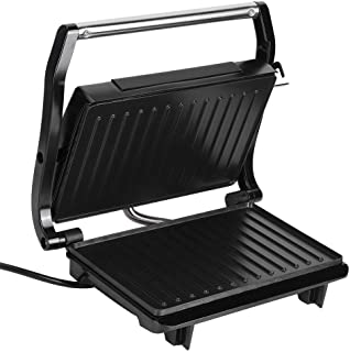 Panini Press Grill Sandwich Maker 2 tranches plaque enduite antiadhésive double face, compacte et portable, surface en aci...