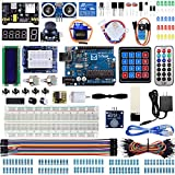 Miuzei Super Starter Kit Compatible with Arduino Projects, with LCD1602 Module, Breadboard, Servo, 9V 1A Power Supply, Sensors, LEDs, Detailed Tutorial MA13