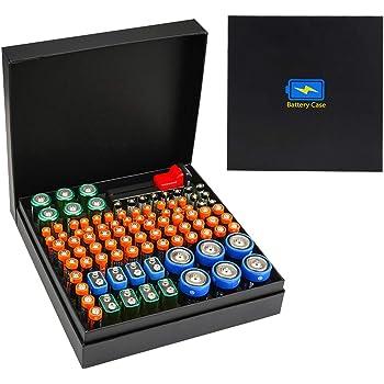 Cpano Caja de Almacenamiento del Organizador de batería, Caja Dura de protección Ambiental: Amazon.es: Electrónica