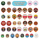 Flavored Coffee Pods Variety Pack,  100% Compatible With Keurig K Cups Brewers, 40 Unique Flavored Coffees - No Duplicates, Perfect Flavored Coffee Lovers Gift