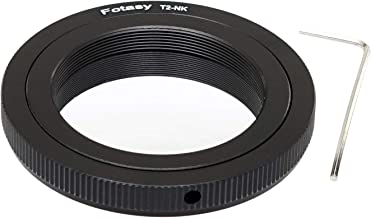 Fotasy T Mount Lens to Nikon Adapter, T2 Telephoto Lens to Nikon F Mount DSLR Adapter, fits Nikon DSLR D5 D4S D4 Df D3 D850 D810 D800 D750 D610 D7500 D7200 D7100 D7000 D5200 D5300 D5500 D5600 D3400