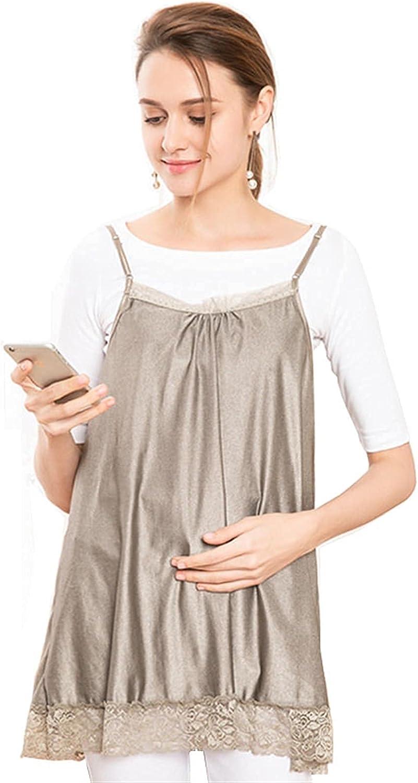 MOZHANG Vestido de maternidad anti-radiación, mujeres embarazadas delantal de protección, escudo equipo electrónico computadora teléfono móvil protección radiación ropa para todo el embarazo, gris pla