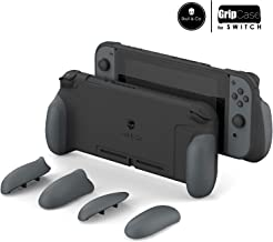 Skull & Co. GripCase: A Comfortable Protective Case with Replaceable Grips [to fit All Hands Sizes] for Nintendo Switch [No Carrying Case] - Gray