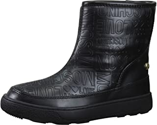 Women's Embossed Logo Print Ankle Boots Shoes