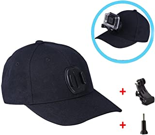 Baseball Hat, Sun Hat with Quick Release Buckle Mount for GoPro Hero 6, 5 Session/5/4/3+/3/2/1, Xiaomi Yi 4K Other Action Cameras
