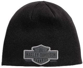 Harley-Davidson Official Men's Trademark Bar & Shield Logo Knit Hat, Black