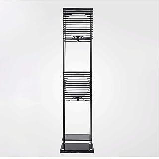 Floor Lamp مصباح أرضي LED - ضوء الدائمة الحديثة لغرف الأحياء وغرف النوم - الإطار الخشبي الآسيوي مع أرفف BoxDisplay مفتوحة ...