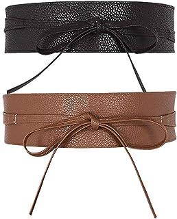 TOOGOO Cinture da donna in pizzo con cinturino in morbida pelle sintetica a forma di boho per accessori moda per abiti