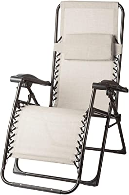 SACKDERTY Lounger Chair Heavy Duty Textoline Zero Gravity Chairs Garden Outdoor Patio Folding Reclining Chairs Deck Chairs