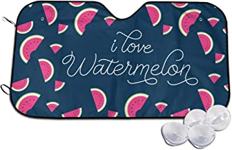 I Love Watermelon Car Windshield Car Sunshade Auto Front Window Sun Shade Visor Shield Cover Universal Fit Keep Your Vehicle Cool. UV Sun and Heat Reflector