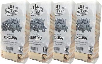 Kindling x 4 Nets – Kiln Dried – alrededor de 12 kg. Perfecto para iniciar fuego abierto, estufas de leña, barbacoas, quemadores de troncos y hornos de pizza