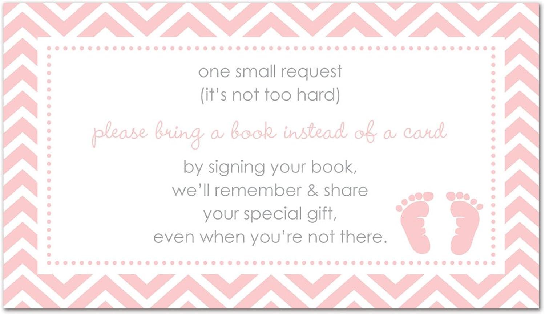 48 Pink Baby Feet Footprint Bring A Book Cards