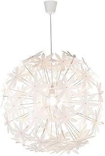 Globo 15024 - Lámpara de techo colgante, diseño de flores, color blanco