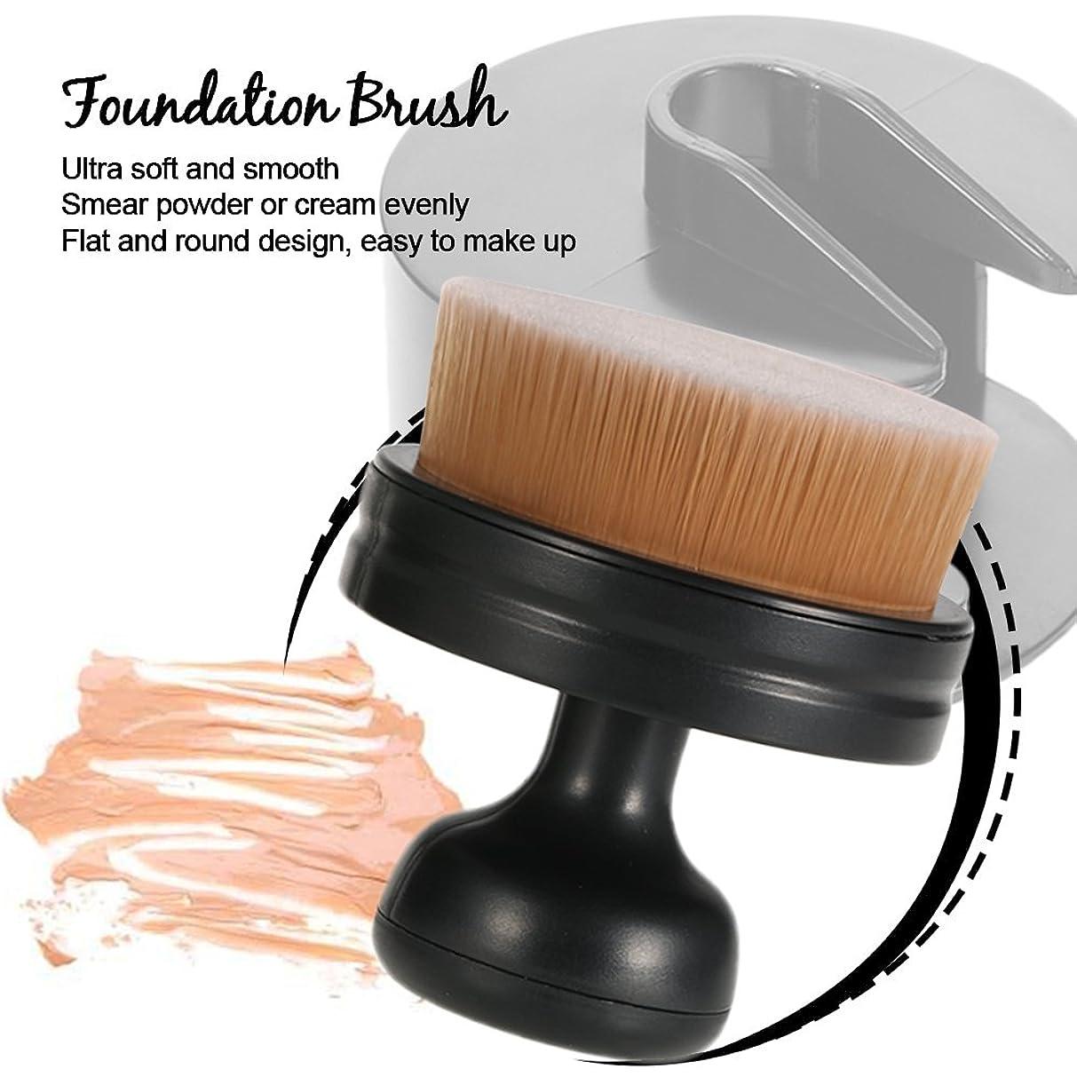 エロチック鑑定影響する1 PC Professional Flat Round Makeup Brush Ultra Soft Women Cosmetic Powder Liquid Blush Brush Large Foundation Brush Make Up Tool Free shipping