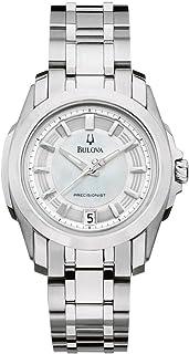 Bulova - 96M108 - Reloj para Mujeres, Correa de Acero Inoxidable Color Plateado