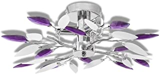 comprar comparacion vidaXL Lámpara de Techo Original Forma de Hojas Casquillo E14 Blanco y Morado